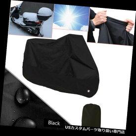 トライク カバー オートバイカバー黒防水屋外雨塵UVプロテクター220 * 95 * 110 cm Motorcycle Cover Black Waterproof Outdoor Rain Dust UV Protector 220*95*110cm