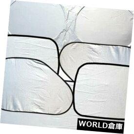 USサンバイザー 車の風防ガラスの日よけは日焼け止めの絶縁材の厚い銀製の布6 PCSを置きました Car Windshield Sunshades Set Sunscreen Insulation Thicken Silver Cloth 6 PCS Set
