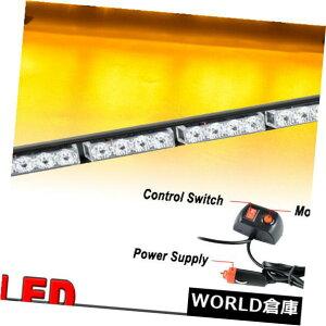 LEDライトバー 18 '' 16 LED緊急警告交通顧問点滅ストロボアンバーYライトバー 18'' 16 LED Emergency Warning Traffic Advisor Flashing Strobe Amber Y Light Bar