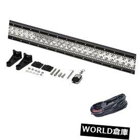 """LEDライトバー 42 """"インチ240WはRGBハローリングと配線キットリモートでオフロード作業ライトバーを主導 42"""" inch 240W Led Offroad Work Light Bar with RGB halo Ring & Wiring kit Remote"""