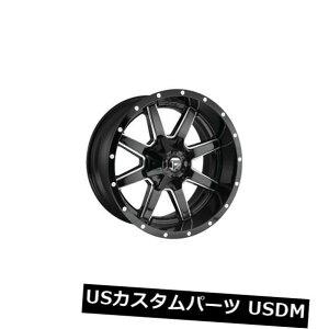 海外輸入ホイール 4個の20x12燃料D610 Maverick ET -44ブラックミルド8x170ホイールリムのセット Set of 4 20x12 Fuel D610 Maverick ET -44 Black Milled 8x170 Wheels Rims
