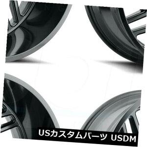 海外輸入ホイール 20x9 Full Black Wheels Hostile H116ジグソーパズル8x6.5 / 8x165.1 0(4個セット) 20x9 Full Black Wheels Hostile H116 Jigsaw 8x6.5/8x165.1 0 (Set of 4)
