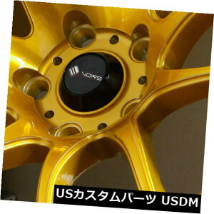 海外輸入ホイール 18x9.5キャンディゴールドホイールVors TR4 5x114.3 22(4個セット) 18x9.5 Candy Gold Wheels Vors TR4 5x114.3 22 (Set of 4)