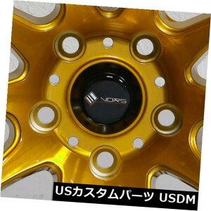 """海外輸入ホイール 4-New 18 """"Vors TR4 Wheels 18x9.5 5x112 35キャンディゴールドリム 4-New 18"""" Vors TR4 Wheels 18x9.5 5x112 35 Candy Gold Rims"""