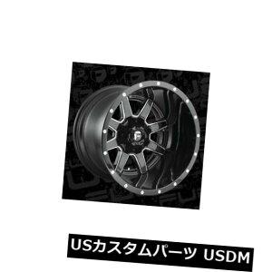 海外輸入ホイール 20x14 ET-76 Fuel D610 Maverick 8x165.1ブラックミルドリム(4個セット) 20x14 ET-76 Fuel D610 Maverick 8x165.1 Black Milled Rims (Set of 4)