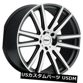 海外輸入ホイール 22x9 TSWギャツビー5x114.3リム+40ガンメタルホイール(4個セット) 22x9 TSW Gatsby 5x114.3 Rims +40 Gunmetal Wheels (Set of 4)