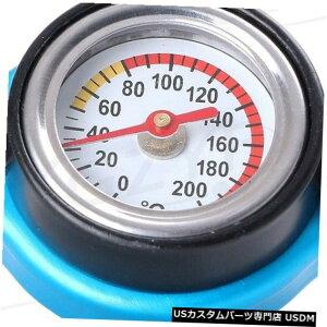 ラジエーターカバー 1.3Bar車のラジエーターカバーキャップW /温度計水温計メーターユニバーサル 1.3Bar Car Radiator Cover Cap W/ Thermometer Water Temp Gauge Meter Universal