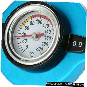ラジエーターカバー 水温温度計L1H6付き0.9バールサーモスタットラジエーターキャップカバー 0.9 Bar Thermostatic Radiator Cap Cover with Water Temp Temperature Gauge L1H6
