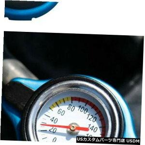 ラジエーターカバー 車のための普遍的なサーモスタットのラジエーターの帽子+温度計1.1棒カバー小さい頭部 Universal Thermostatic Radiator Cap+Temp gauge 1.1 Bar Cover Small Head For Car