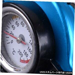 ラジエーターカバー 水温温度計を備えた耐久性のある0.9Barサーモスタットラジエーターキャップカバー Durable 0.9Bar Thermostatic Radiator Cap Cover with Water Temp Temperature Gauge