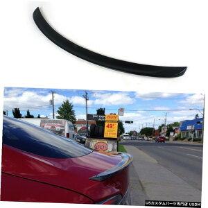 エアロパーツ テスラモデルS 12-15プライマーFRP黒用リアトランクスポイラーブートウイングリップフィット Rear Trunk Boot Spoiler Wing Lip Fit for Tesla Model S 12-15 Primer FRP Black