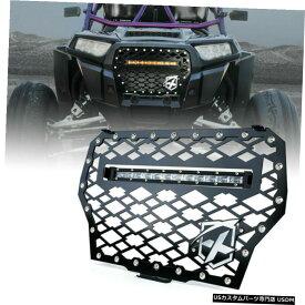 グリル ポラリスRZR XP千ターボ用/ 14インチLEDライトバーワットXpriteスチールグリルメッシュ Xprite Steel Grille Mesh w/ 14inch LED Light Bar for Polaris RZR XP 1000 Turbo