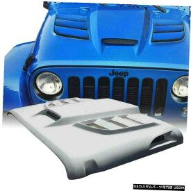 グリル 7月18日ジープラングラールビコンサハラJK JKUためXpriteファイバーグラスフードスクープベント Xprite Fiber Glass Hood Scoop Vent for 07-18 Jeep Wrangler Rubicon Sahara JK JKU