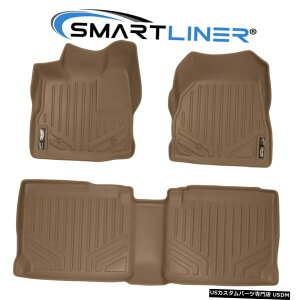 Floor Mat SMARTLINER 10-11 Equinox / Terrain用2列タンフロアマット(フロアフック付き) SMARTLINER 2 Row Tan Floor Mats For 10-11 Equinox /Terrain (W/ Floor Hooks)