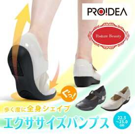 ポスチュア ビューティ スーパーフィットヒールシューズ ポスチュア ウォーキング シューズ レディース 美姿勢 軽量 靴 KIMIKO 脱ぎやすい 履きやすい マジックテープ 猫背 改善 送料無料 プロイデア PROIDEA ドリーム
