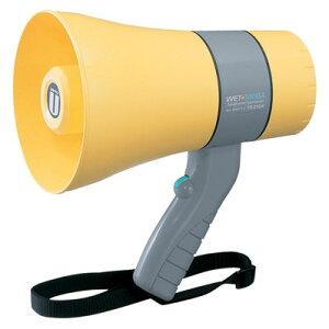 拡声器 ユニペックス 6W 防滴形 小型メガホン 拡声器 TR-215WA