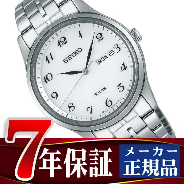 【SEIKO SPIRIT】セイコー スピリット ソーラー メンズ腕時計 ホワイト SBPX067