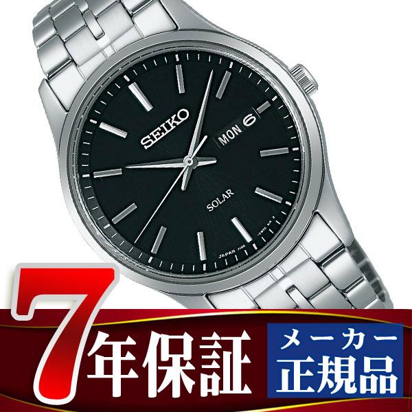 【SEIKO SPIRIT】セイコー スピリット ソーラー メンズ腕時計 ブラック SBPX069