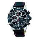 【逆輸入SEIKO】セイコー SEIKO クロノ クオーツ メンズ 腕時計 SSB193P1 ブラック