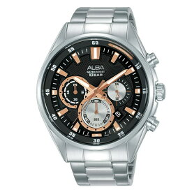 SEIKO 逆輸入セイコー メンズ 腕時計 ブラック アルバ クロノグラフ AT3G05X1