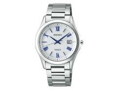 【SEIKODOLCE&EXCELINE】セイコードルチェ&エクセリーヌ薄型ソーラーペアウォッチメンズ腕時計チタンシルバーSADM007