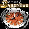 精工 メンズダイバーズ 自動手錶橙色怪物聚氨酯皮帶 SKX781K3