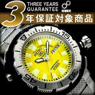 精工 5 體育男裝潛水夫自動手錶不銹鋼帶 SKZ251K1