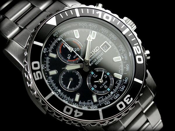 セイコー 腕時計 SEIKO メンズ 逆輸入セイコー SNA225 SNA225P1 アラーム クロノグラフ 腕時計 クオーツ 電池式 男性用 100m 防水 海外モデル 正規品 送料無料 7年保証 男性用 メンズウォッチ メタルベルト SNA225P