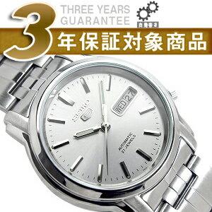 【逆輸入SEIKO5】セイコー5 メンズ自動巻き腕時計 シルバーダイアル シルバーステンレスベルト SNKK65K1【AYC】
