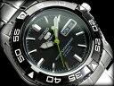 【日本製逆輸入SEIKO5SPORTS】セイコー5 メンズ自動巻き腕時計 IPブラックベゼル ギョーシエブラックダイアル シルバ…