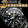 Seiko 5 mens automatic watch-all black Black Dial black stainless steel belt SNZF21J1