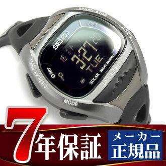 Seiko ProspEx Super runners solar digital watch, running watch black SBEF031