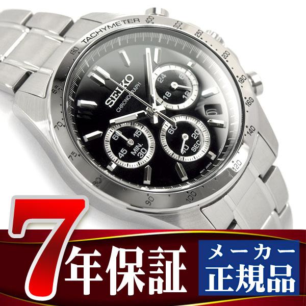 【SEIKO SPIRIT】セイコー スピリット クオーツ クロノグラフ 腕時計 メンズ ブラック SBTR013