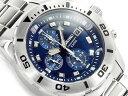 【正規品 逆輸入 SEIKO】セイコー クォーツ 高速クロノグラフ メンズ 腕時計 ブルーダイアル シルバー ステンレスベル…