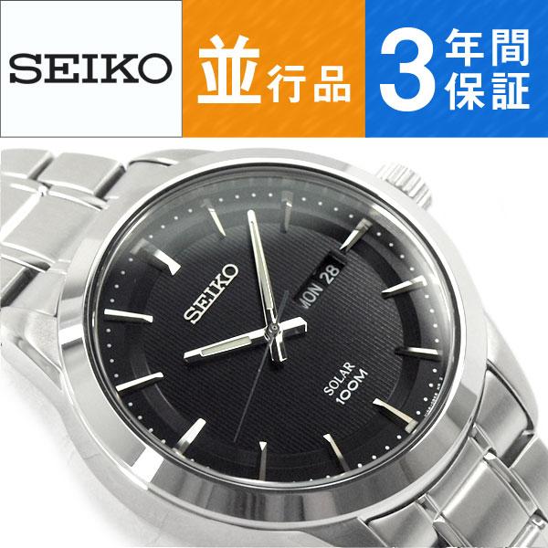 【逆輸入SEIKO】セイコー ソーラー SOLAR メンズ 腕時計 SNE363P1