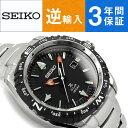 【逆輸入SEIKO】セイコー ソーラー パイロットクロノグラフ メンズ 腕時計 ブラックダイアル ステンレスベルト SNE421…