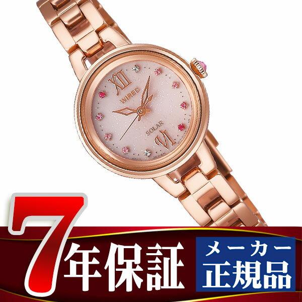 【SEIKO WIREDf】セイコー ワイアードエフ ソーラー 腕時計 レディース ペアスタイル ピンク AGED093
