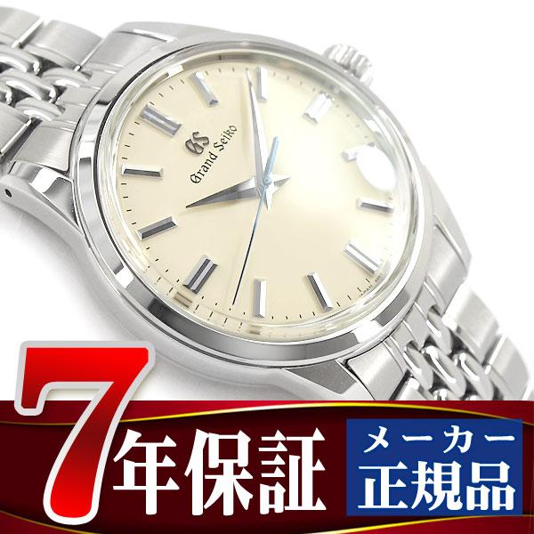 【GRAND SEIKO】グランドセイコー メカニカル 手巻き付き メンズ 腕時計 ベージュダイアル ステンレスベルト SBGW235