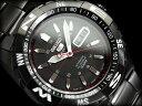 セイコー セイコー5 スポーツ SEIKO5 SPORTS セイコーファイブスポーツ メンズ 腕時計 SNZJ11J セイコー 逆輸入 自動巻き メカニカル オールブラック メタルベルト 日本製 SN