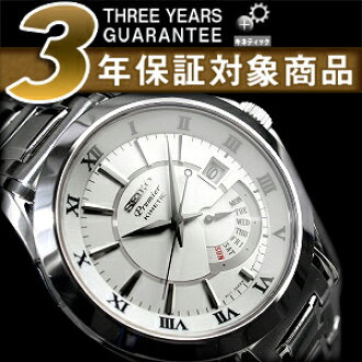 セイコープルミエ キネティックレトログ LAAD Watch Silver Dial stainless steel belt SRN001P1