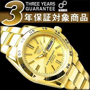 【逆輸入SEIKO5】セイコー5 レディース自動巻き腕時計 オールゴールド SYMG44K1【AYC】