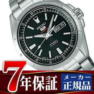 Seiko mechanical Seiko 5 sports mens automatic hand-wound watch black SARZ005
