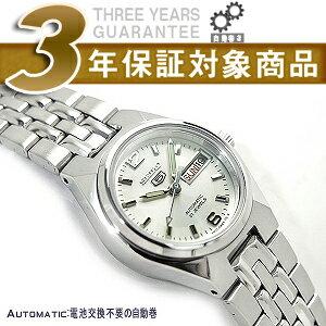 【逆輸入SEIKO 5】セイコー5 自動巻き+手巻き レディース腕時計 シルバ−ダイアル シルバーステンレスベルト SYMK31K1【AYC】