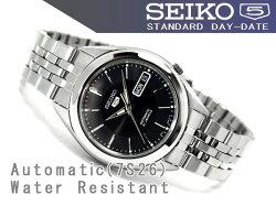 【逆輸入SEIKO5】セイコー5メンズ自動巻き腕時計ブラックダイアルステンレスベルトSNKL23K1