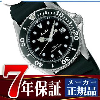 男子的精工阿鲁巴手表太阳能潜水员表黑色AEFD530
