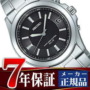 【SEIKO SPIRIT】セイコー スピリット ソーラー電波時計 ブラックダイアル×シルバー メンズ腕時計 SBTM017【正規品】