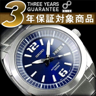 Seiko 5 セイコーファイブ day date calendar with automatic self-winding men's watch Navy dial stainless steel metal belt SNKF05K1