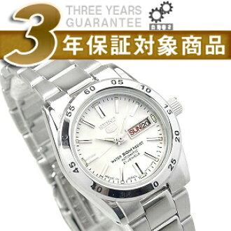 精工 5 自動捲繞式女式手錶白色 smg35j1