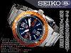 精工5男子的自動卷手錶金屬深藍撥盤不銹鋼皮帶SRP351K1