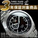 【日本製逆輸入SEIKO 5 SPORTS】セイコー5 手巻き&自動巻き式 メンズ腕時計 ブラックダイアル ステンレスベルト SSA065J1